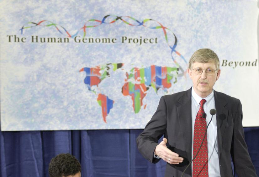 Wikimedia Commons / Francis Collins, M.D., Ph.D., announces the successful completion of the Human Genome Project.