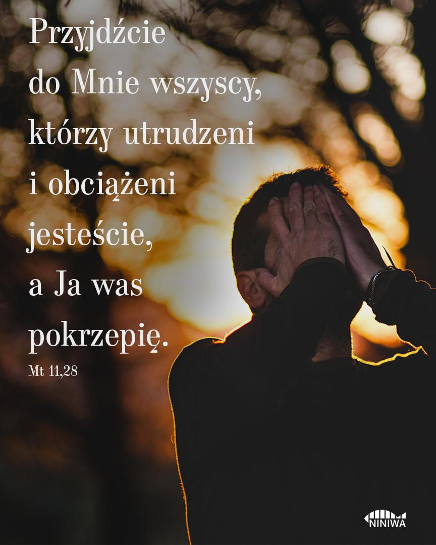 Przyjdźcie do mnie wszyscy, którzy utrudzeni i obciążeni jesteście, a Ja was pokrzepię - Mt 11, 28