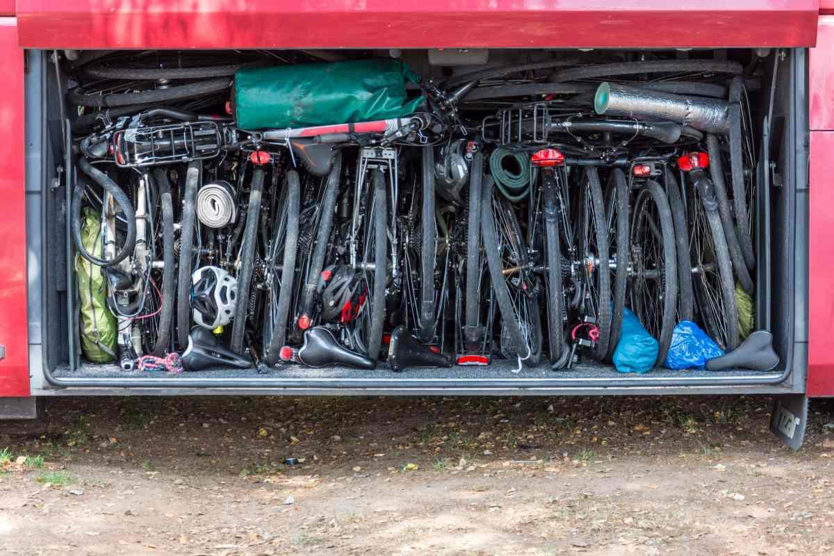 Rowery w bagażniku autobusu