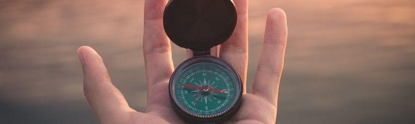 Kompas na ręce