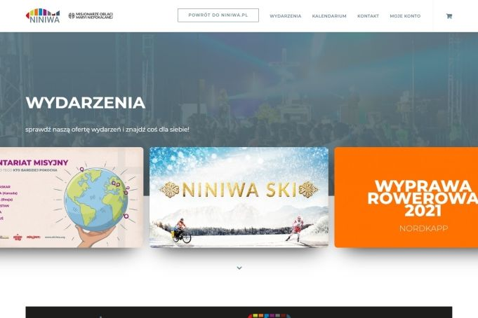Zrzut ekranu strony wydarzenia.niniwa.pl