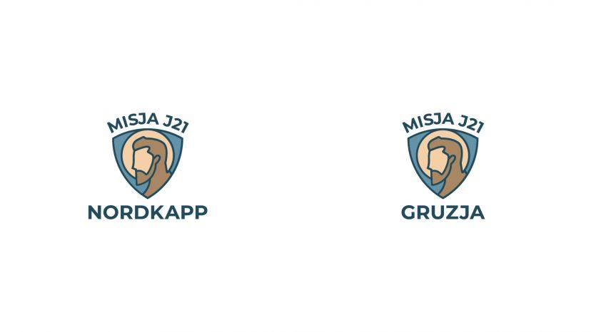 Profil św. Józefa na tle tarczy - logo.